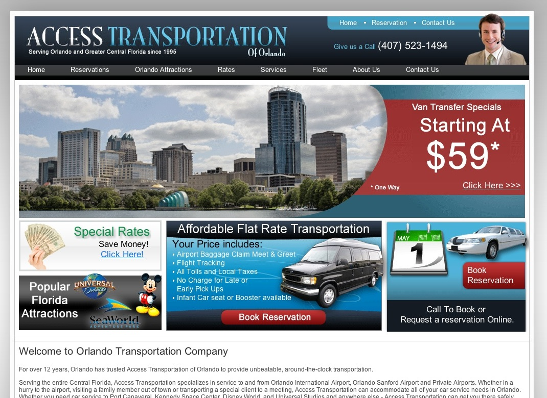 The Top Orlando Transportation Company Access Transportation wants you to experience the best of Florida with no hassles or delays From Disney World Transportation to port Canaveral.
