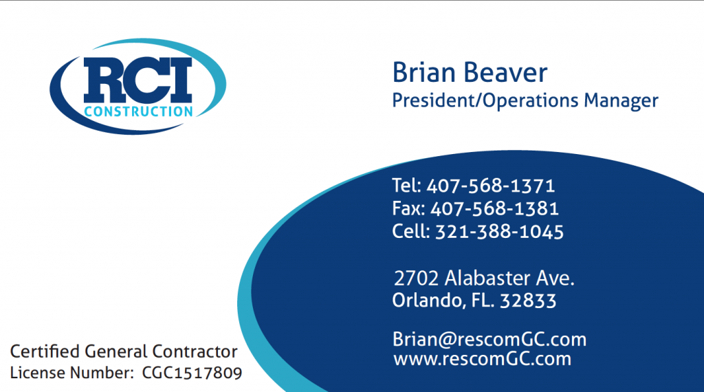 RCI-Business Cards