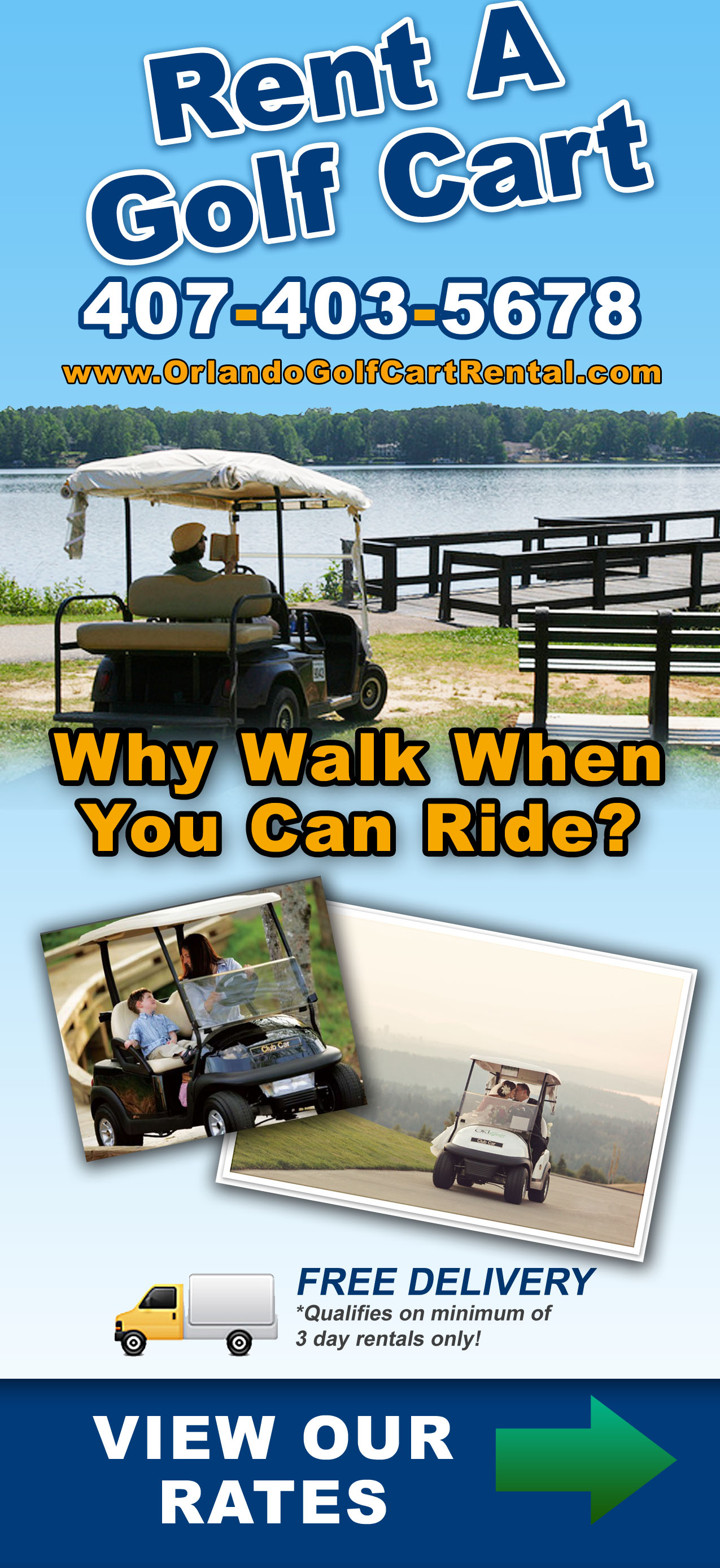 Orlando Golf Cart – Card / Brochure