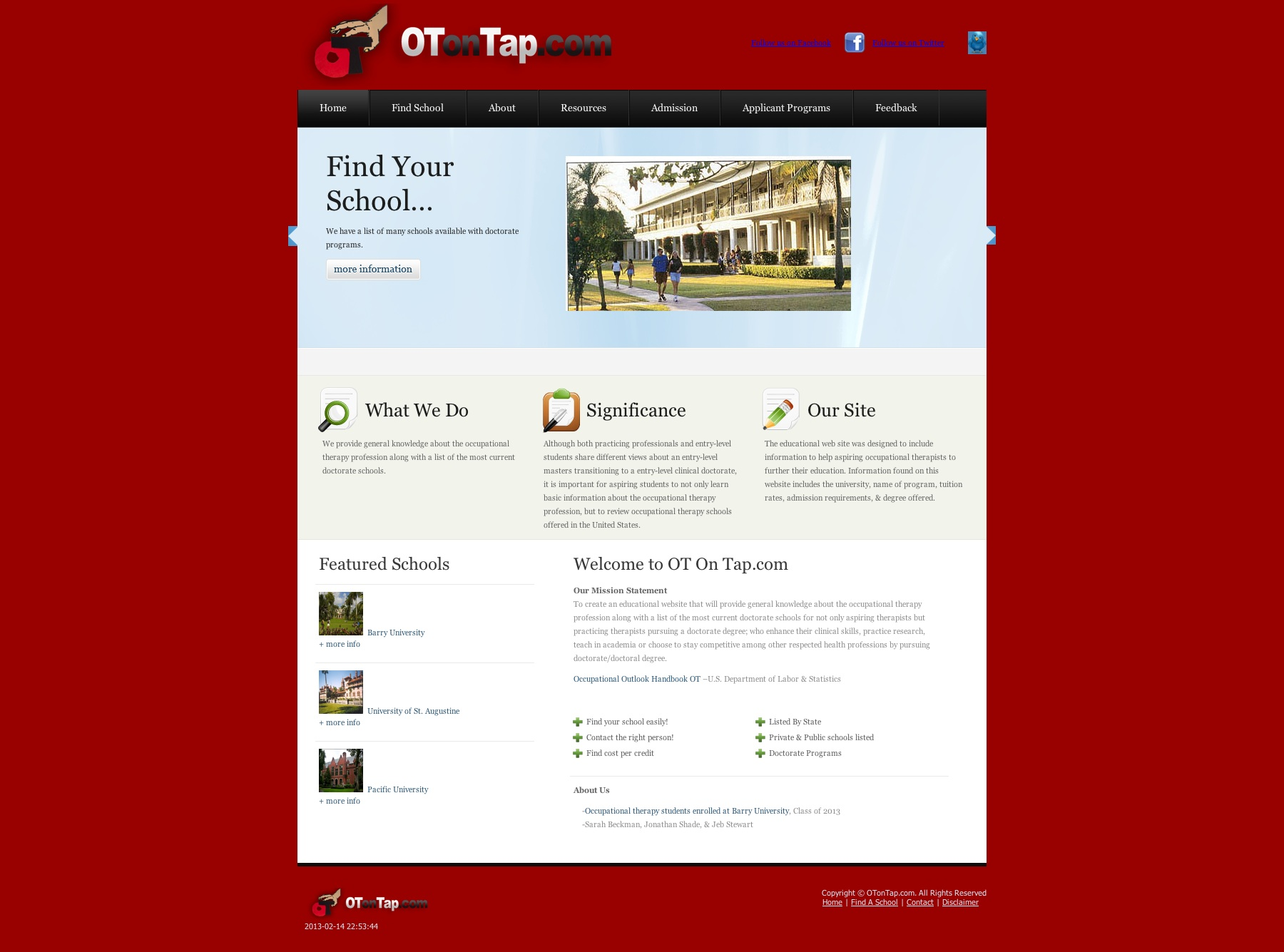 OTonTap.com – Template Website