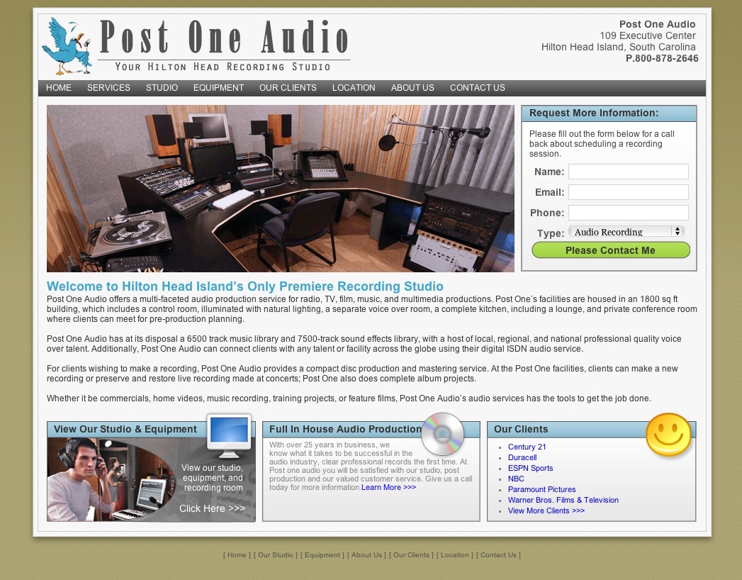 Post One Audio – Audio Recording Studio