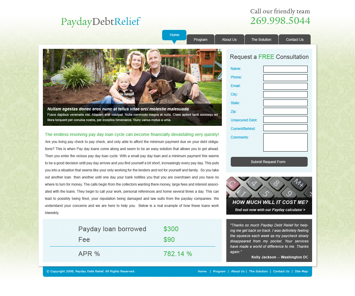 Pay Day Debt Relief